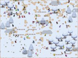 Size: 1920x1440 | Tagged: safe, screencap, applejack, discord, fluttershy, prince blueblood, sunset shimmer, oc, oc:meno, pony, pony town, clothes, ink!sans, lapis lazuli (steven universe), peridot (steven universe), princess bluebelle, rule 63, snow, socks, steven universe, striped socks, update