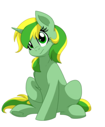 Size: 1500x1800 | Tagged: safe, artist:itstaylor-made, oc, oc only, oc:meadow dawn, pony, confused, female, mare, sitting, solo