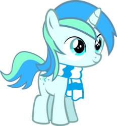 Size: 10733x11558 | Tagged: safe, artist:cyanlightning, oc, oc only, oc:cyan lightning, pony, unicorn, 2017 community collab, derpibooru community collaboration, .svg available, absurd resolution, clothes, colt, cute, cutie mark, daaaaaaaaaaaw, male, scarf, simple background, solo, transparent background, vector