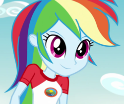 Size: 860x720   Tagged: safe, screencap, rainbow dash, equestria girls, legend of everfree, cropped, female, solo