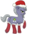 Size: 2166x2500 | Tagged: safe, artist:underwoodart, limestone pie, earth pony, pony, blushing, butt, clothes, dock, glare, hat, looking at you, looking back, plot, santa hat, signature, simple background, snow, snowfall, socks, solo, transparent background, underhoof