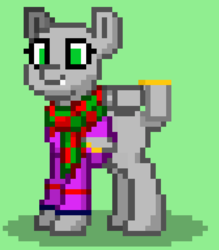 Size: 630x720 | Tagged: safe, artist:not-immortal, derpibooru exclusive, oc, oc only, oc:sierra summit, original species, plane pony, pony, pony town, a-10 thunderbolt ii, clothes, hoodie, plane, scarf, solo