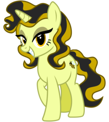 Size: 2700x3000   Tagged: safe, artist:cheezedoodle96, derpibooru exclusive, oc, oc only, oc:vanilla honey, bee, pony, unicorn, 2017 community collab, derpibooru community collaboration, .svg available, cutie mark, eyeshadow, female, looking at you, makeup, mare, simple background, smiling, solo, svg, transparent background, vector