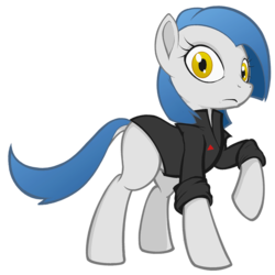 Size: 1200x1200 | Tagged: safe, artist:darkdoomer, derpibooru exclusive, oc, oc only, oc:lorelei kernav, earth pony, pony, 2017 community collab, derpibooru community collaboration, clothes, simple background, solo, transparent background, uniform