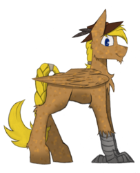Size: 3134x3869 | Tagged: safe, artist:wingedthoughts, oc, oc only, oc:hard cider, hippogriff, 2017 community collab, derpibooru community collaboration, hat, simple background, solo, transparent background