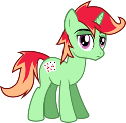 Size: 1095x1064 | Tagged: safe, artist:lightningbolt, derpibooru exclusive, oc, oc only, oc:jonin, pony, unicorn, 2017 community collab, derpibooru community collaboration, .svg available, cutie mark, looking at you, male, simple background, solo, stallion, svg, transparent background, vector