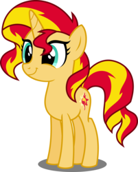 Size: 4025x5000 | Tagged: safe, artist:orin331, sunset shimmer, pony, unicorn, :t, absurd resolution, bright, cute, female, shimmerbetes, simple background, smiling, solo, teenager, transparent background, vector, younger