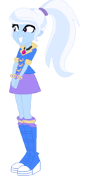Size: 261x528 | Tagged: alternate hairstyle, artist:cleofine123, equestria girls, safe, solo, trixie