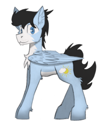 Size: 3134x3869 | Tagged: safe, artist:wingedthoughts, oc, oc only, oc:solar chaser, pegasus, pony, 2017 community collab, derpibooru community collaboration, cheek fluff, simple background, smiling, solo, transparent background