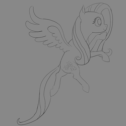 Size: 4096x4096   Tagged: safe, artist:age3rcm, fluttershy, absurd resolution, flying, smiling, solo, spread wings