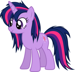 Size: 6000x5776 | Tagged: 80s, absurd res, alternate hairstyle, artist:slb94, cute, female, mare, messy mane, safe, simple background, solo, transparent background, twilight sparkle, vector