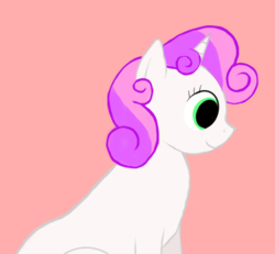 Size: 800x739 | Tagged: safe, artist:rottenbabe, derpibooru exclusive, sweetie belle, pony, unicorn, bust, female, filly, mare, portrait, simple background, sitting, solo