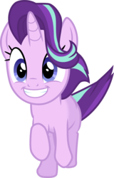 Size: 3001x4683   Tagged: safe, artist:cloudyglow, starlight glimmer, pony, unicorn, .ai available, absurd resolution, cute, female, glimmerbetes, mare, simple background, smiling, solo, transparent background, trotting, vector