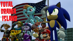 Size: 1024x576 | Tagged: alicorn, american flag, artist:khxhero, artist:sandrag1, belly, crossover, hyrule warriors, kingdom hearts, link, mario, mass crossover, murica, nintendo, nonsensical crossover, pony, pregnant, rainbow dash, ratchet and clank, rayman, safe, salute, sega, soldier, sonic the hedgehog, sonic the hedgehog (series), sora, super mario bros., team fortress 2, the legend of zelda, total drama, total drama island, twilight sparkle, twilight sparkle (alicorn), wat
