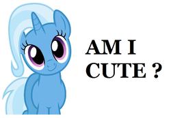 Size: 796x550 | Tagged: safe, trixie, pony, unicorn, bronybait, cute, diatrixes, female, image macro, mare, meme, solo
