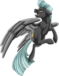 Size: 1024x1321 | Tagged: safe, artist:crecious, thunderlane, pegasus, pony, looking back, male, simple background, solo, stallion, transparent background, watermark