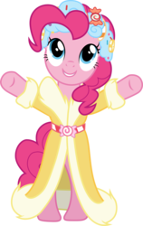 Size: 3001x4745 | Tagged: safe, artist:cloudyglow, pinkie pie, spirit of hearth's warming presents, pony, a hearth's warming tail, .ai available, absurd resolution, bipedal, clothes, female, simple background, smiling, solo, transparent background, vector