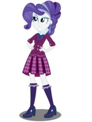 Size: 1024x1357 | Tagged: safe, artist:mlpchannelire02, rarity, equestria girls, alternate hairstyle, alternate universe, angry, clothes, crystal prep academy uniform, female, school uniform, simple background, solo, transparent background