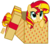 Size: 8000x6996 | Tagged: safe, artist:justisanimation, sunset shimmer, pony, unicorn, 2017, :o, absurd resolution, box, cute, female, looking up, mare, new year, open mouth, part of a set, pony in a box, present, shimmerbetes, simple background, solo, transparent background, vector