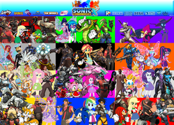 "Size: 2100x1500 | Tagged: aisha, amy rose, applejack, artist:trungtranhaitrung, bastion (overwatch), bean the dynamite, blaze the cat, blizzard entertainment, bloom (winx club), butterflix, chat noir, colors, cream the rabbit, crossover, demoman, derpy hooves, dj pon-3, d.va, e-123 omega, engineer, equestria girls, espio the chameleon, fairy, fairy wings, flora (winx club), fluttershy, genji (overwatch), hanzo, hanzo (overwatch), heavy, heavy weapons guy, jesse mccree, junkrat, knuckles the echidna, layla, logo, lucio, mane six, mare do well, medic, mei, mercy, miles ""tails"" prower, miraculous ladybug, musa, overwatch, pharah, pinkie pie, pyro, rainbow dash, rainbow s.r.l, rarity, reaper (overwatch), reinhardt, roadhog (overwatch), rouge the bat, safe, sci-twi, scout, sega, shadow the hedgehog, silver the hedgehog, sniper, soldier, soldier 76, sonic chronicles x, sonic team, sonic the hedgehog, sonic the hedgehog (series), spy, stella, stella (winx club), sunset shimmer, symmetra, team fortress 2, tecna, torbjorn, tracer, twilight sparkle, valve, vector the crocodile, vinyl scratch, winston (overwatch), winx club, zagtoon, zarya, zenyatta"