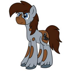 Size: 1500x1500 | Tagged: safe, artist:bigmackintosh, oc, oc only, oc:mack mod, oc:nick nack paddy wack, earth pony, pony, 2017 community collab, derpibooru community collaboration, simple background, solo, transparent background, unshorn fetlocks