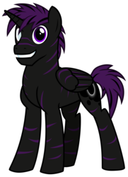 Size: 2746x3784   Tagged: safe, artist:cheezedoodle96, derpibooru exclusive, oc, oc only, alicorn, pony, 2017 community collab, derpibooru community collaboration, .svg available, alicorn oc, blind eye, cutie mark, male, scar, simple background, smiling, solo, stallion, stripes, svg, transparent background, vector