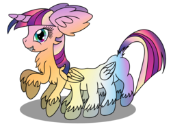 Size: 2560x1920 | Tagged: safe, artist:cybersquirrel, applejack, fluttershy, pinkie pie, rainbow dash, rarity, twilight sparkle, oc, oc:xii, alicorn, monster pony, pony, adoracreepy, appleflaritwidashpie, black outlines, chest fluff, colored wings, creepy, cute, dock, double wings, ear fluff, fangs, fusion, gradient eyes, gradient hooves, gradient mane, gradient wings, heterochromia, horn, impossibly large ears, mane six, multiple limbs, multiple wings, not salmon, shadow, sharp teeth, simple background, solo, teeth, this isn't even my final form, transparent background, unshorn fetlocks, wat, what has magic done, what has science done, wings, wtf