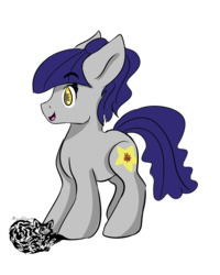 Size: 1600x2000   Tagged: safe, artist:silverkitsune84, oc, oc only, oc:fruity blossom, earth pony, pony, chibi, female, simple background, solo, transparent background