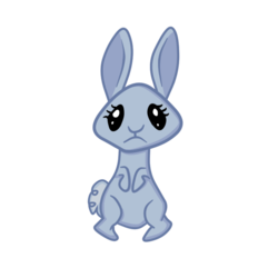 Size: 1200x1200 | Tagged: safe, artist:hawthornbunny, artist:sweetai belle, oc, oc only, oc:hawthornbunny, rabbit, 2017 community collab, derpibooru community collaboration, rabbit oc, simple background, solo, transparent background