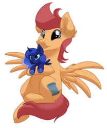 Size: 1500x1800 | Tagged: safe, artist:itstaylor-made, princess luna, oc, oc only, oc:astrozone, pony, cute, male, plushie, simple background, stallion, transparent background