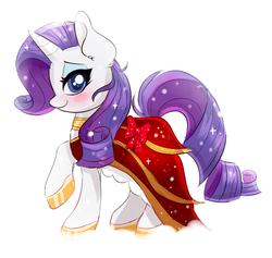Size: 950x902   Tagged: safe, artist:confetticakez, rarity, beautiful, blushing, clothes, dress, female, looking at you, smiling, solo