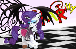 Size: 1616x1042 | Tagged: safe, artist:sallycars, rarity, clothes, cosplay, costume, crossover, dress, high school dxd, ms paint, solo