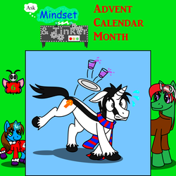 Size: 1400x1400 | Tagged: advent calendar, artist:neoryan2, oc, oc:mindset, oc only, oc:tinker, part of a set, pony, safe
