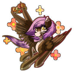 Size: 1652x1616 | Tagged: safe, artist:beardie, oc, oc only, oc:riley, pegasus, pony, commission, floral head wreath, flower, simple background, solo, transparent background, wing hands