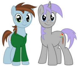 Size: 1085x929 | Tagged: 2017 community collab, artist:avastindy, derpibooru community collaboration, derpibooru exclusive, earth pony, male, oc, oc:coolj, oc only, oc:spark brush, pony, safe, simple background, stallion, transparent background, unicorn