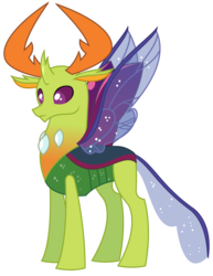 Size: 2391x3100 | Tagged: safe, artist:sketchmcreations, thorax, changedling, changeling, to where and back again, king thorax, simple background, solo, transparent background, vector