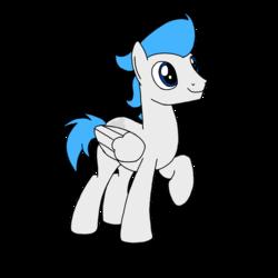 Size: 1000x1000 | Tagged: safe, artist:toyminator900, oc, oc only, oc:dreamy daze, pegasus, pony, raised hoof, simple background, solo, transparent background