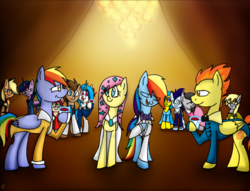 Size: 2452x1876 | Tagged: safe, artist:stuflox, applejack, derpy hooves, dj pon-3, doctor whooves, fluttershy, lemon hearts, octavia melody, rainbow blaze, rainbow dash, roseluck, soarin', spitfire, time turner, twilight sparkle, vinyl scratch, alicorn, pony, applejack (male), clothes, crossover, danglajacks, danglars, dusk shine, firestorm, mondego, monsparkle, pierre morel, rainbow blitz, rainbow dantes, record scrape, rule 63, shycedes, the count of monte cristo, twilight sparkle (alicorn)