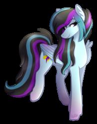 Size: 1402x1800   Tagged: safe, artist:kikirdcz, oc, oc only, oc:rosalina skies, pegasus, pony, female, mare, simple background, smiling, solo, transparent background