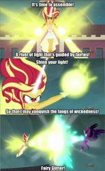Size: 640x1036 | Tagged: safe, sunset shimmer, twilight sparkle, equestria girls, friendship games, daydream shimmer, fairy tail, midnight sparkle, text