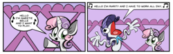 Size: 1024x321   Tagged: safe, artist:joeywaggoner, rarity, sweetie belle, brony polka, commission, crossover, kermit the frog, the muppets