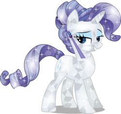 Size: 2664x2520   Tagged: safe, artist:infinitewarlock, rarity, crystal pony, pony, crystal rarity, crystallized, female, simple background, solo, transparent background, vector