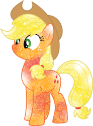 Size: 768x1040 | Tagged: applejack, artist:digiradiance, artist:mortris, galaxy, safe, simple background, solo, transparent background, vector