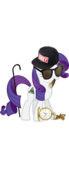 Size: 1600x4000 | Tagged: safe, rarity, pony, unicorn, cane, drugs, female, hat, joint, mare, marijuana, mlg, pocket watch, simple background, smiling, solo, sunglasses, transparent background