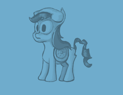 Size: 792x612 | Tagged: safe, artist:renny, phone pony, pony, blue, phone, phone pone, ponyphone, solo
