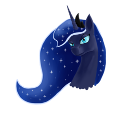 Size: 1500x1400 | Tagged: safe, artist:stardune, princess luna, portrait, simple background, solo, transparent background