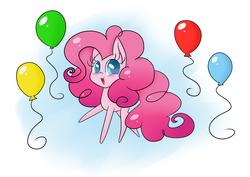 Size: 3507x2480 | Tagged: safe, artist:pumpkinkikile, pinkie pie, balloon, chibi, solo