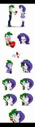 Size: 700x2509 | Tagged: safe, artist:pia-sama, rarity, spike, equestria girls, comic, female, human spike, kissing, male, older, older spike, shipping, sparity, straight, valentine's day