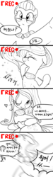 Size: 1080x3600 | Tagged: artist:gashiboka, camera, camera shot, cloudy quartz, comic, comic strip, dialogue, eyes closed, floppy ears, heart, korean, looking at you, loose hair, marble pie, monochrome, one eye closed, open mouth, recording, safe, smiling, sparkles, stupid sexy cloudy quartz, translated in the comments, wink