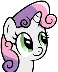 Size: 3000x3704 | Tagged: safe, artist:mahaugher, sweetie belle, portrait, simple background, solo, transparent background, vector